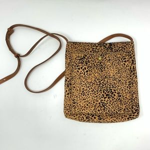Madewell Leopard Pony Hair Crossbody Bag